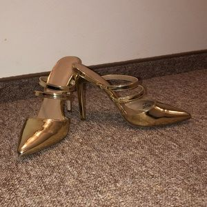 ASOS Shoes - ASOS gold mules